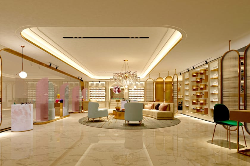 high-end showroom flooring