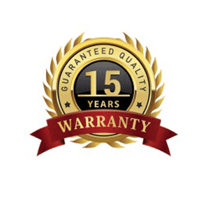 15 year warranty seal