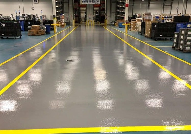 industrial concrete flooring after