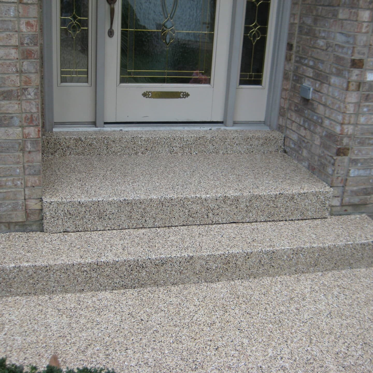 front walkway path done with floor shield coating