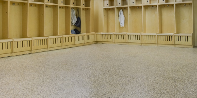 locker room floor coatings